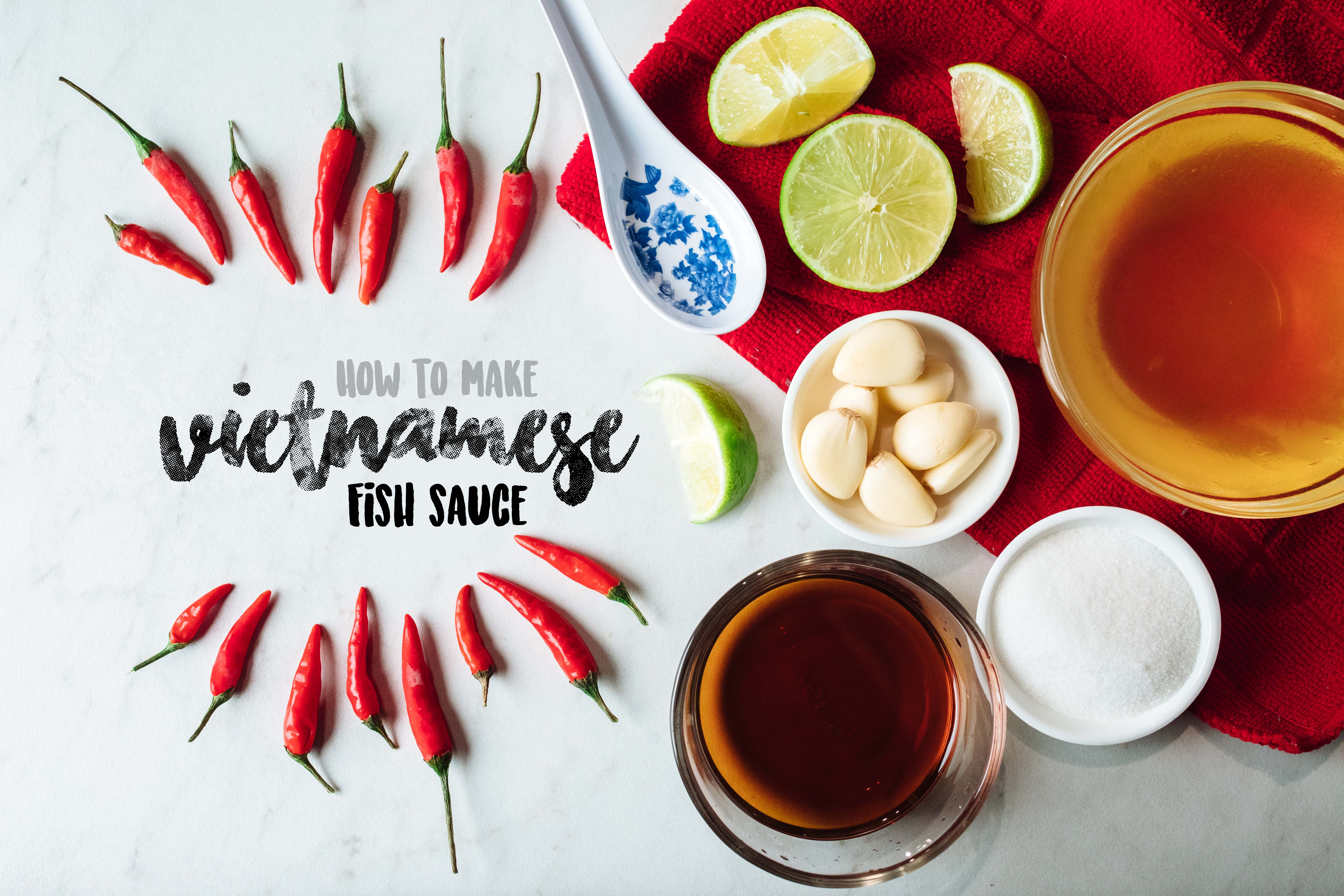 4 easy steps to make Vietnamese Fish Sauce